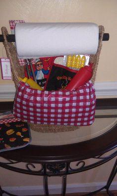 Small Magazine Basket! Awesome idea for a Raffle Basket! <3