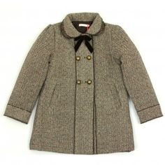 Brown Tweed Sequin Coat