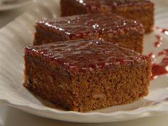 Brownies con cubierta de frambuesas   Recetas Choly Berreteaga  Utilisima.com