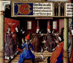 Women spinning. artist Maitre Francois. France 1473-80. by tony harrison, via Flickr