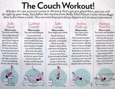 The couch #workout. #Inspiration. #Weight_loss #Fitness