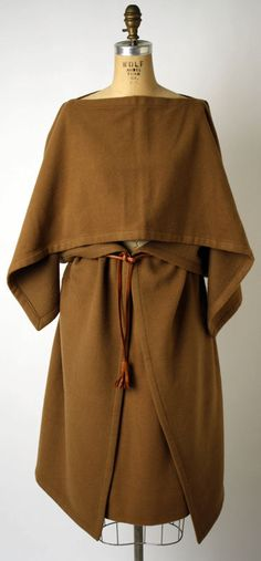 Suit Pierre Cardin (French) ca1977 cashmere, leather