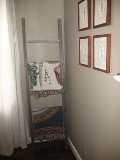 Ladder made into a blanket holder