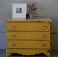 vintage yellow dresser from knack studio