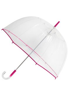 Un-teal the Clouds Clear Umbrella in Fuchsia, #ModCloth