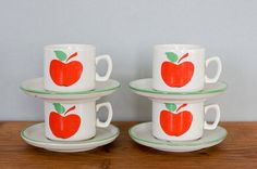 vintage italian expresso cups and saucers from by FrenchAtticFinds, $16.00