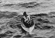 Photograph taken from the Carpathia on April 15, 1912...one of the few life boats of the Titanic luxuri liner, histori, titan lifeboat, lifeboat approach, april 15, ships, titan survivor, rms titan, carpathia