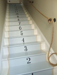 Our Back Stairs Reveal!  #painted #stairs #steps