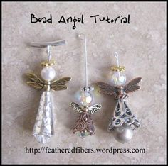 bead angels free tutorial - love the one on the right