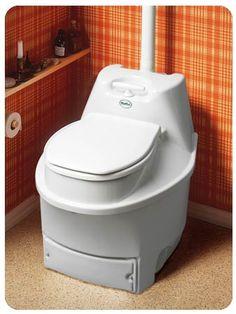 The Biolet composting toilet.
