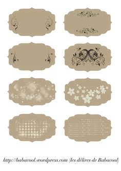 étiquettes beige vintage