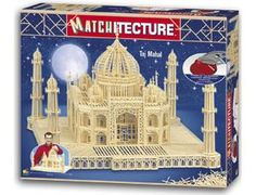 The Matchitecture Taj Mahal matchstick kit includes everything needed to make this matchstick model kit.  Included are all the pre-cut card formers along with the glue, matchticks and full instructions.  These instructions will guide you through each stage of the construction until you finally achieve the finished product. We would highly recommend this Matchitecture Taj Mahal matchstick model kit.    7500 microbeams. Size: 600mm square x 380mm high