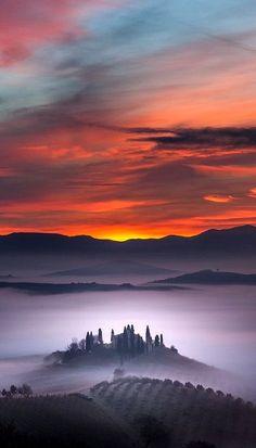 Towards the Heaven.. Tuscany, Italy (by Alberto Di Donato on 500px)