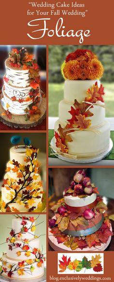 Wedding Cake Ideas for Your Fall Wedding - Folliage