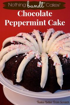 Chocolate Peppermint Bundt Cake (Copycat Nothing Bundt Cake)