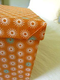 Cloth-covered storage box