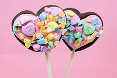 Conversation Heart Cookie Pops.