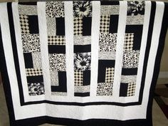 Love Black and White Quilts