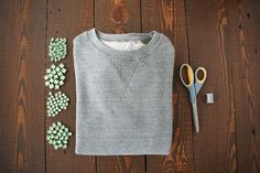 Turn your gnarly sweatshirt into a glam DIY statement piece! Photos by Sara Haile.