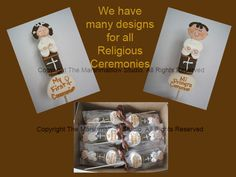 1st communion favors #religious #firstcommunion #marshmallows #pops #favors