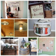 7 DIY:: Fabulous Frugal Repurpose  Projects for the Home (full tutorials for each & these are great!)