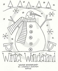 redwork, stitching patterns, primitive patterns, christmas stitchery patterns, winter embroidery patterns