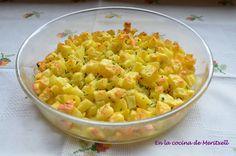 En la cocina de Meritxell: Patatas guarnición en el microondas