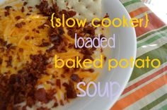 Loaded Baked Potato Soup - perfect Crock Pot recipe - set it & forget it. Awesomely potatoey, cheesy, and delicious.