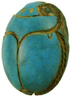 Egyptian turquoise Scarab.