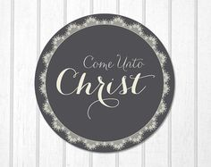 2014 Young Women Come unto Christ Wall Art or by wittybrittydesign, $5.00