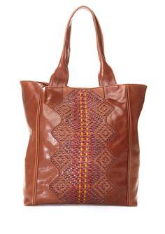 Isabella Fiore's Brown Leather Stella Tote Bag