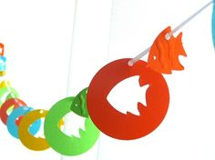 party banners, tropic fish, tropical fish, shower idea, bridal shower tropical, babi shower, fish garland, parti, baby showers