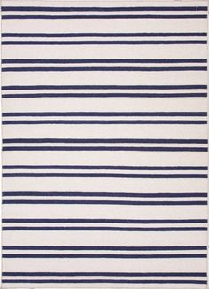 Maroc Collection MR63 Lago Wool Blue Striped Area Rug - bedroom?