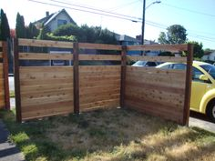 Another DIY privacy fence idea.