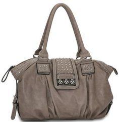 Designer Inspired Metal Studded Soft Leatherette Shopper Hobo Tote Shoulder Bag Satchel Handbag Purse --- http://www.pinterest.com.luvit.in/592