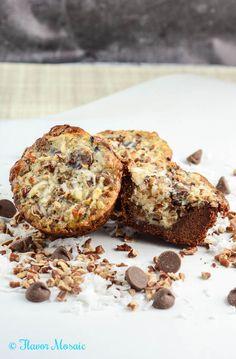 German Chocolate Cookie Cups