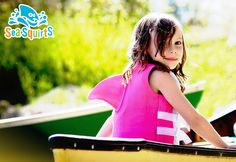 The Best Flotation Device for a Child. The SwimWays Sea Squirts PFD life jacket is USCG approved.