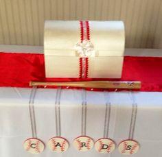 Baseball Wedding Gift Card Box : Baseball Wedding on Pinterest Baseball, Baseball Wedding Cakes and ...