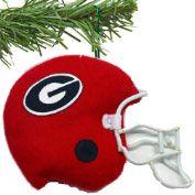 Georgia Bulldogs Red Fabric Helmet Ornament