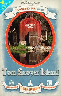 Walt Disney World Planning Pins: Tom Sawyer Island