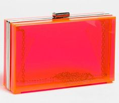 love this clear pink clutch {from Nordstrom}