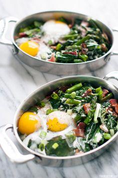 Baked eggs recipe   //   FOXINTHEPINE.COM