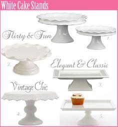 Cake Stands  http://craftcrazymom.com/diy-cake-pedestals/