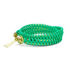 helloberry Triple Wrap bracelet in Mint $23 Available in 12 colors