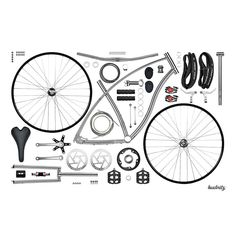Budnitz Bicycles Store | No.1 Disassembled Print