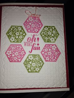 Stampin up Christmas card using six sided sampler and Christmas messages stamp sets