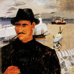 'A Cornish Sailor' by Christopher Wood (1928)