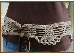 Positively Crochet!: Feminine Lace Belt - Crochet Pattern for Sale
