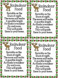 reindeer food poem printables - Google Search