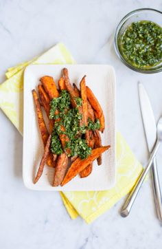 Sweet Potatoes with Chimichurri / blog.jchongstudio.com
